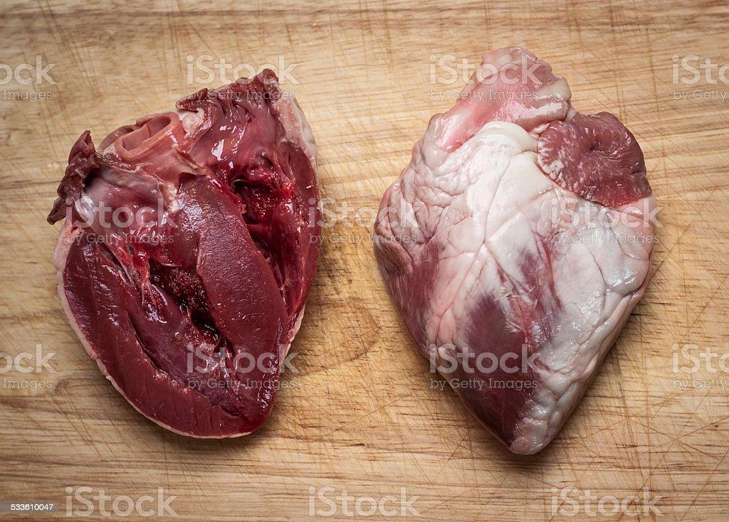 Lamb hearts stock photo
