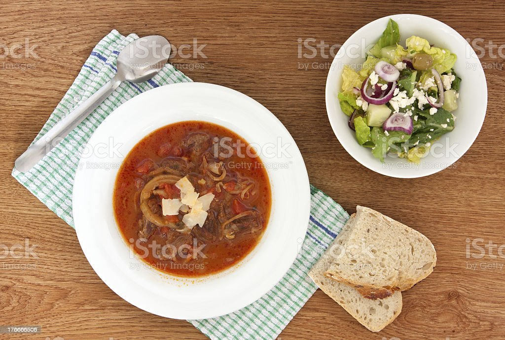 lamb in tomato sauce royalty-free stock photo