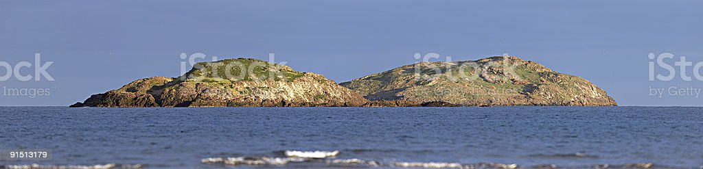 Lamb Island, Firth of Forth, Scotland, owned by Uri Geller royalty-free stock photo