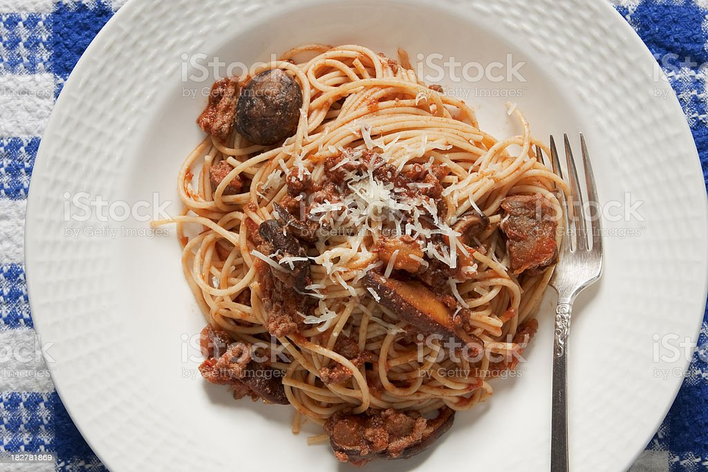 Lamb Ragú with Whole Wheat Pasta stock photo