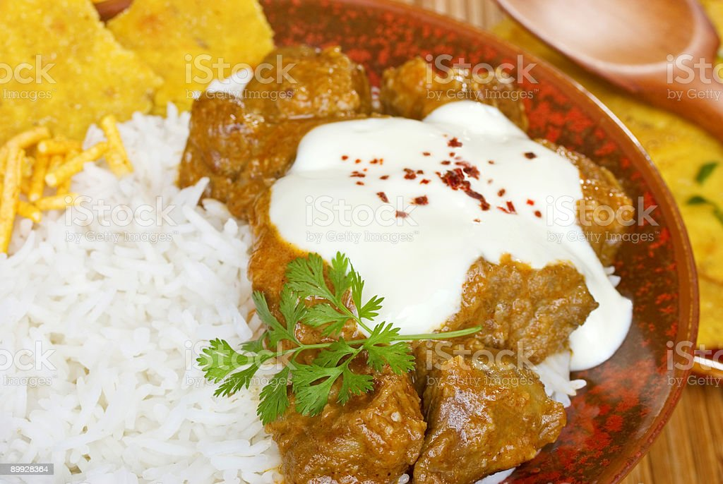 Lamb Rogan Josh Indian Curry Food Cuisine Meat stock photo