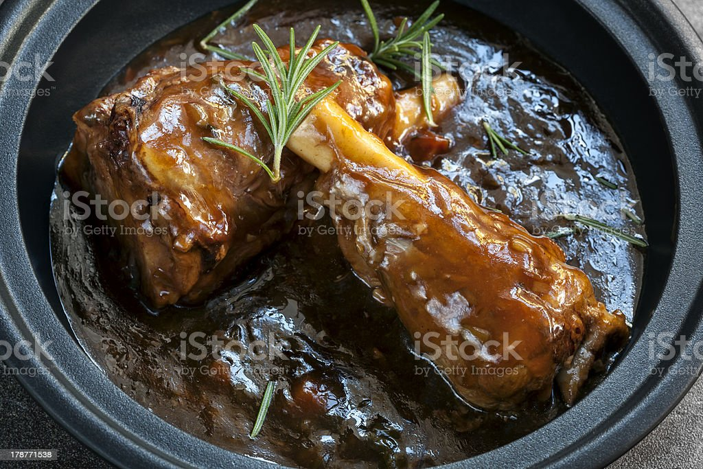 Lamb Shanks in Gravy stock photo