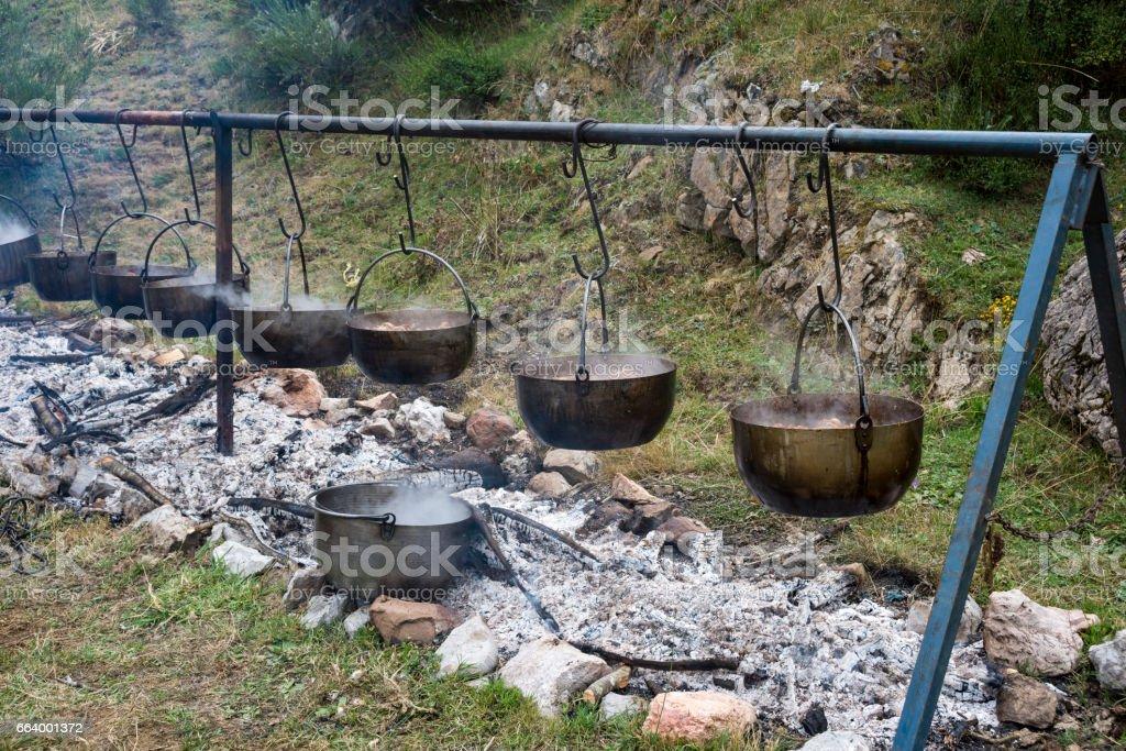Lamb stew in a popular festival stock photo