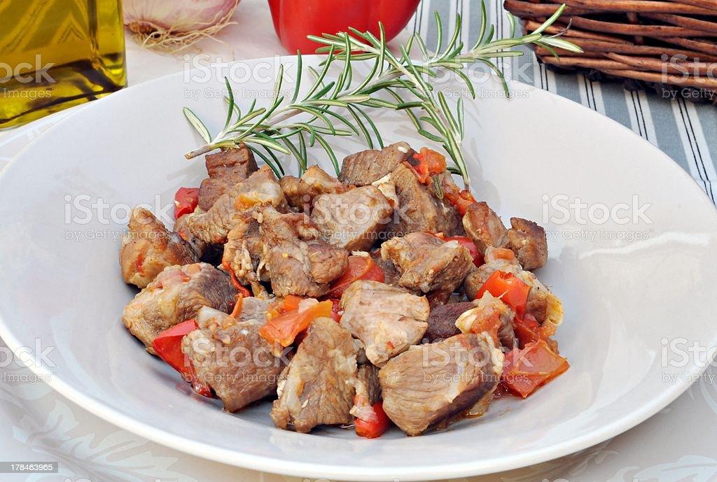 Lamb stew royalty-free stock photo