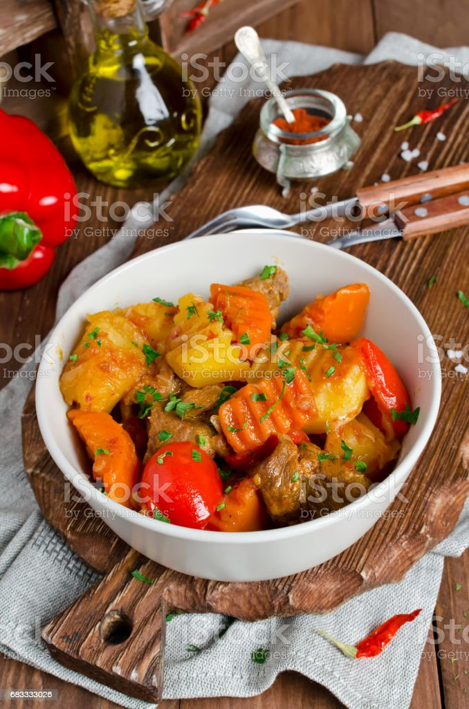 Lamb Stew with vegetables royalty-free stock photo