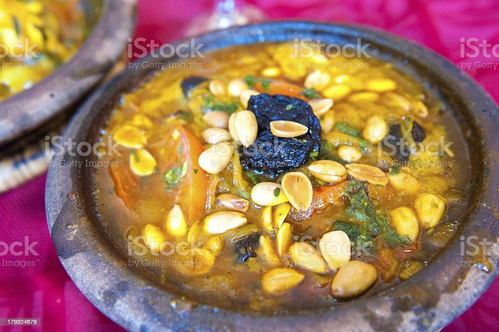 Lamb tajine, traditional moroccan dish stock photo