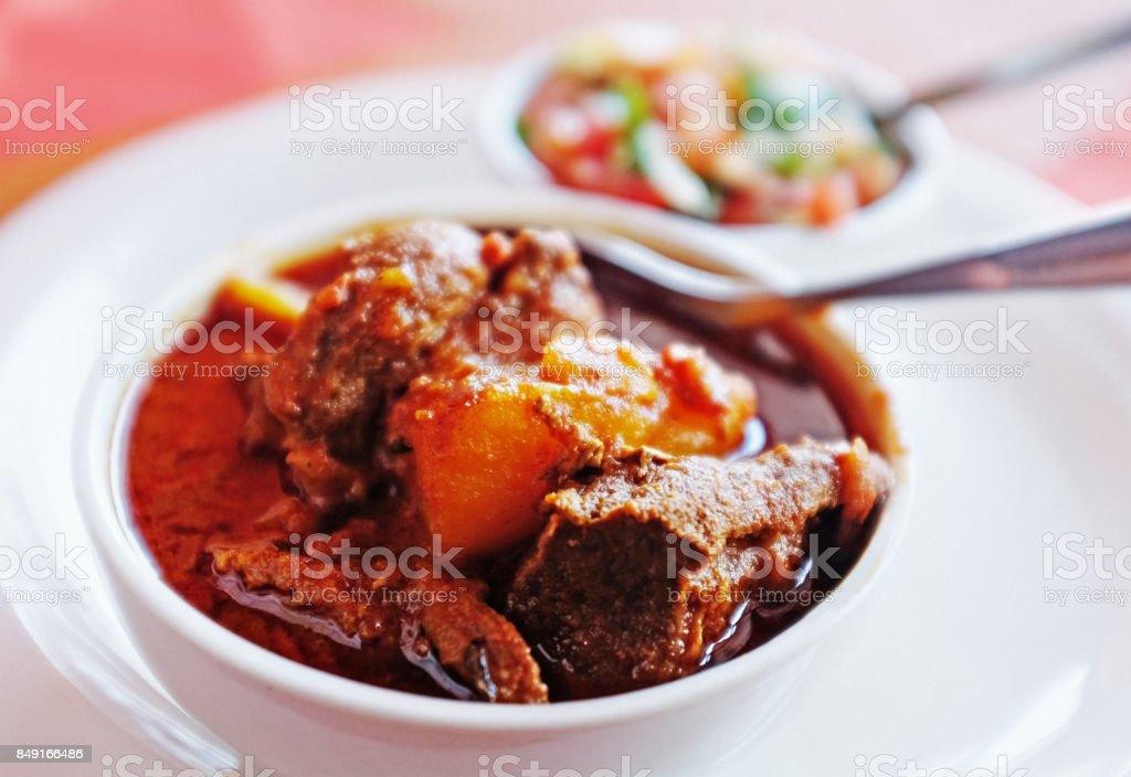 Lamb Vindaloo curry stock photo