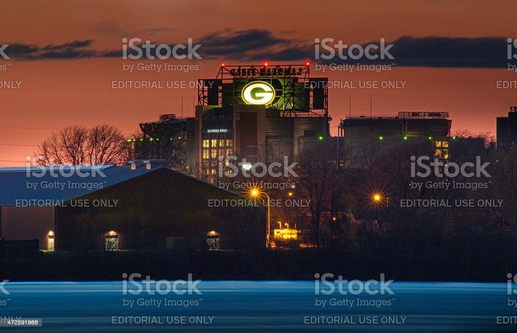 Lambeau Field in Green Bay Wisconsin stock photo