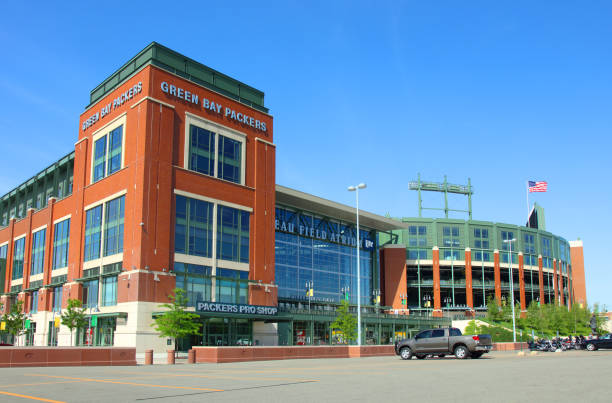 lambeau field - green bay wisconsin stock photos and pictures