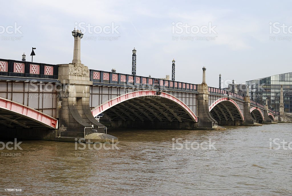 Lambeth Bridge. Westminster. London royalty-free stock photo
