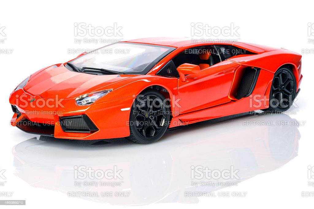 Lamborghini Aventador lp700-4 supercar model car stock photo
