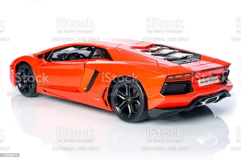 Lamborghini Aventador lp700-4 supercar model car stock photo