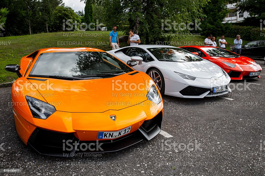 Lamborghini Cars stock photo