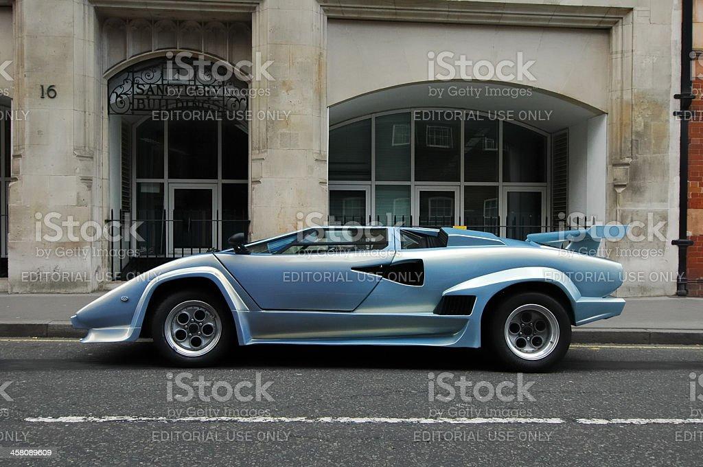 Lamborghini Countach 1980s Italian supercar side view stock photo
