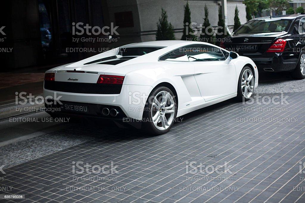 Lamborghini Diablo 2014 White stock photo