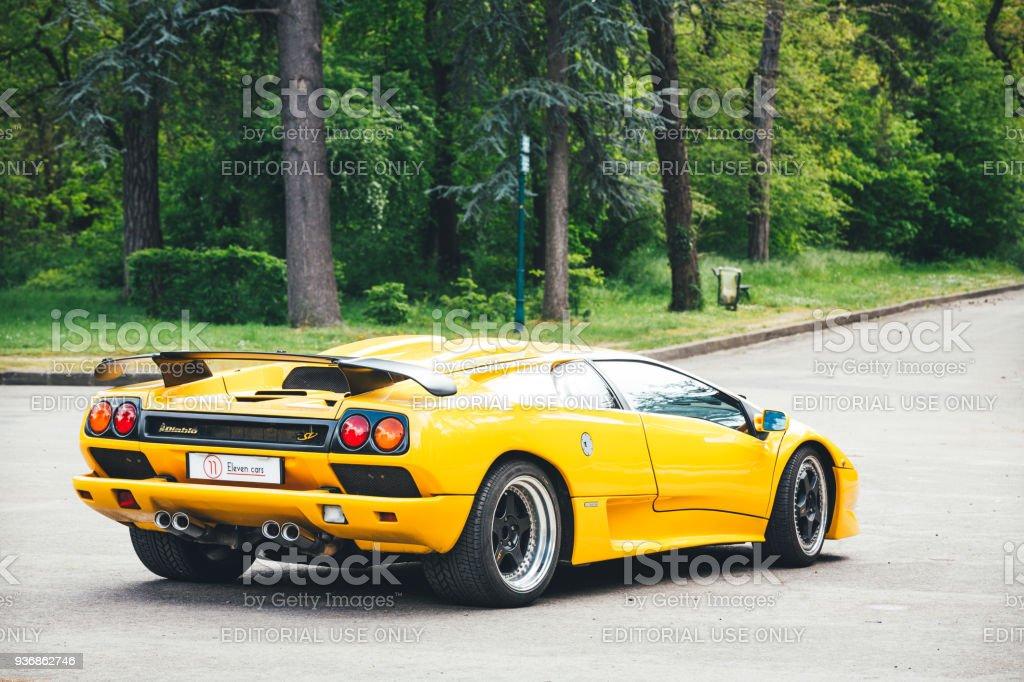 Lamborghini Diablo In Paris stock photo