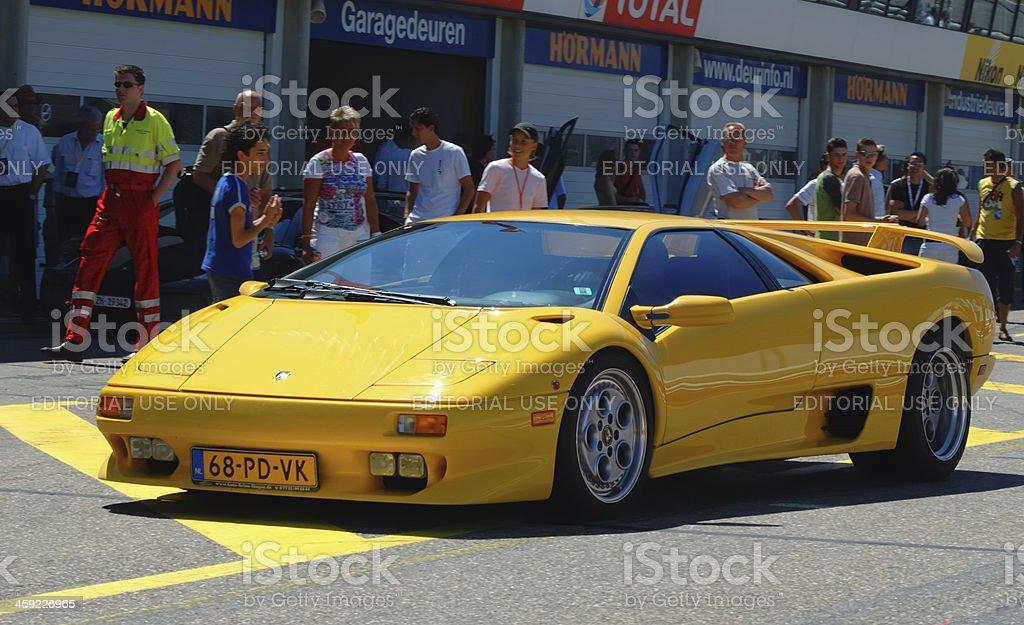 Lamborghini Diablo Pit Lane Stock Photo More Pictures Of Car Istock