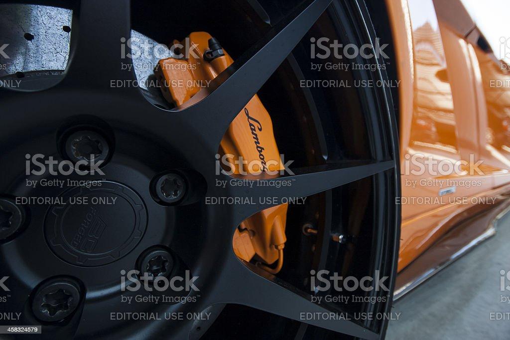 Lamborghini Gallardo wheel stock photo
