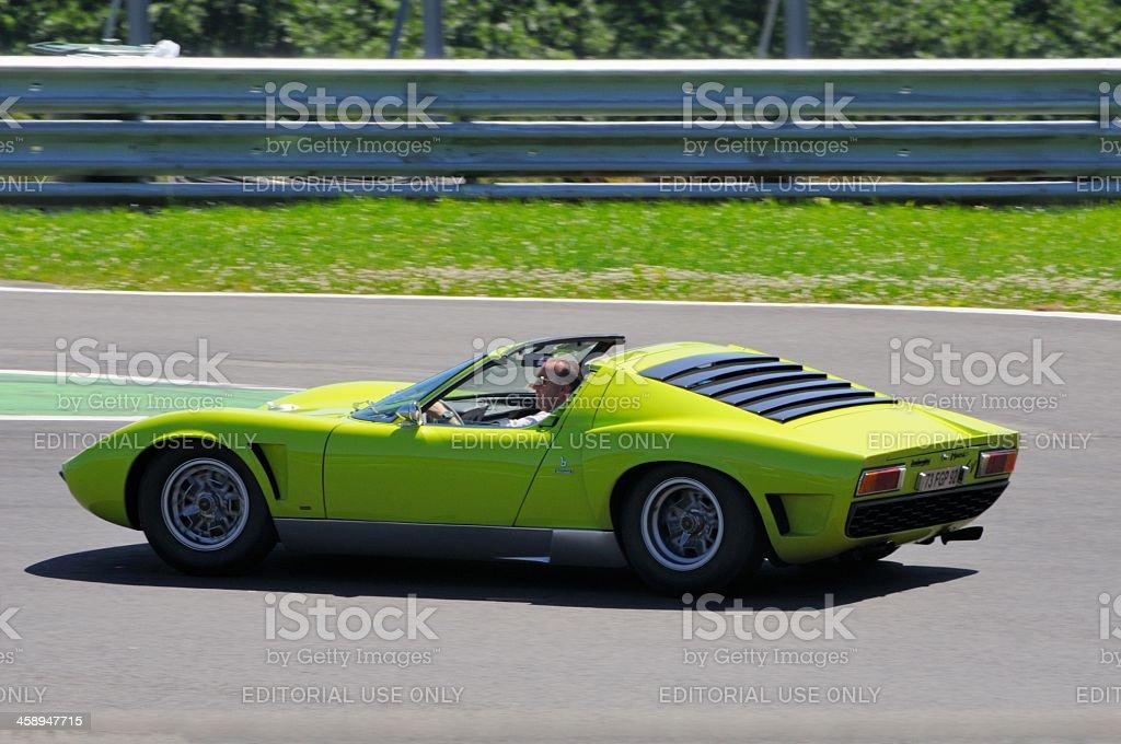 Lamborghini Miura Roadster stock photo