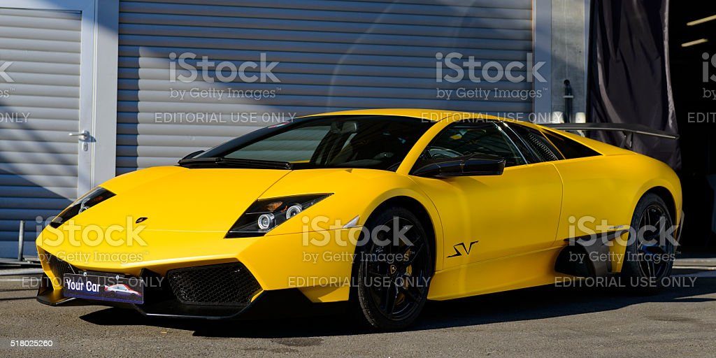 Lamborghini Murcielago Lp6704 Sv Supercar Stock Photo More