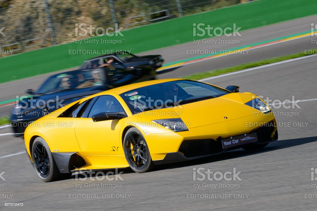 Lamborghini Murcielago Lp670-4 SV supercar stock photo