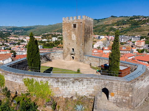 Lamego, Portugal 16/7/2020: Lamego Castle is located on a mountain in the city of Lamego and has been a national monument since 1910 and is today one of the most sought after monuments in the city of Lamego.