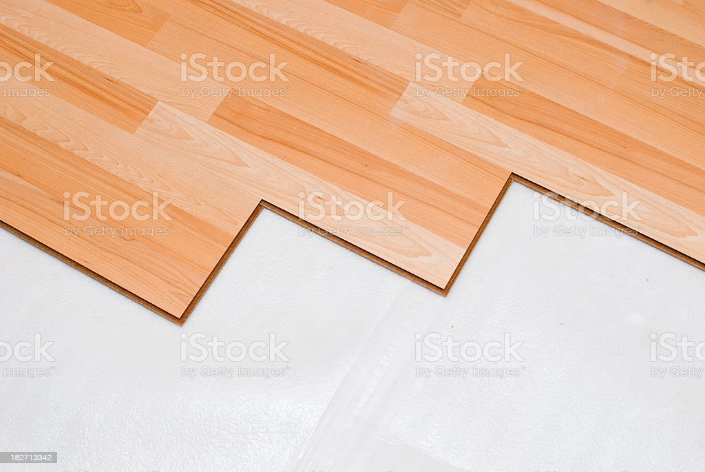 Laminate floor royalty-free stock photo