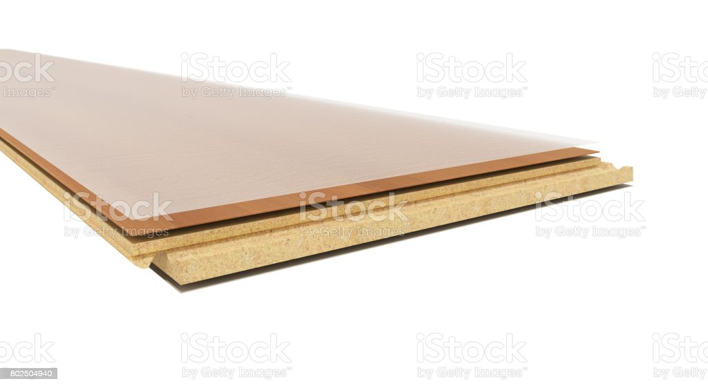 Laminate on layers 3d render on white background stock photo