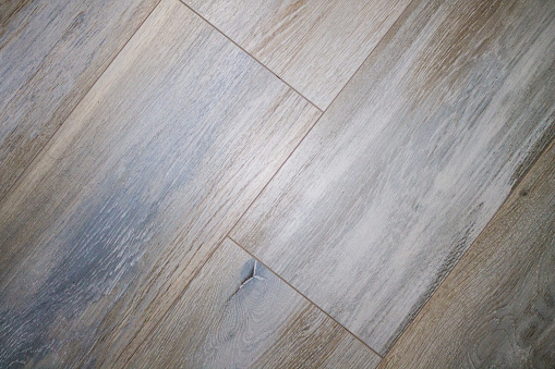 Laminate texture. Finished flooring. The woody design is light and dark.