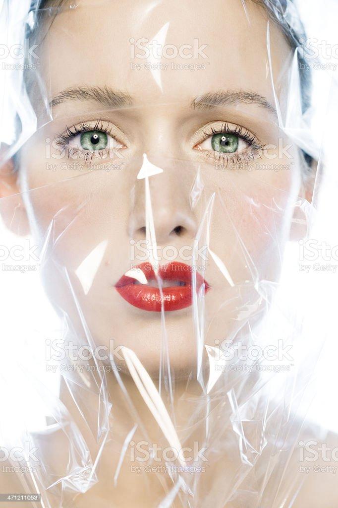 Laminated Beauty stock photo