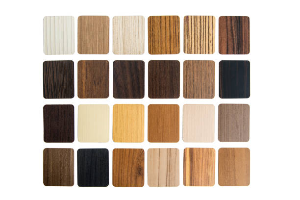 Laminated composite material samples stock photo