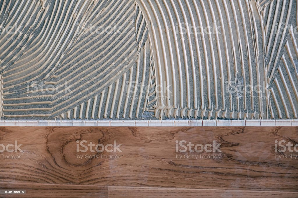 Laminated wooden boards stock photo