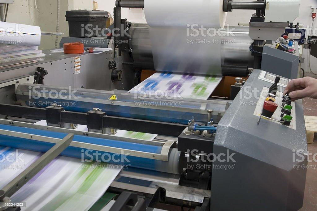 Laminating machine royalty-free stock photo