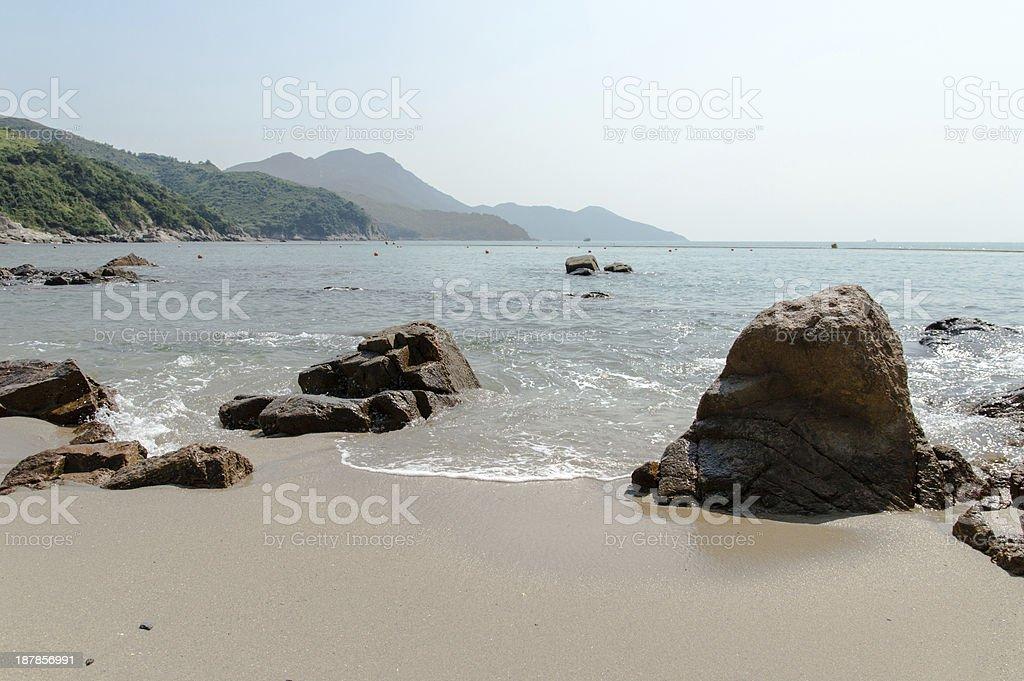 Lamma Island Beach stock photo