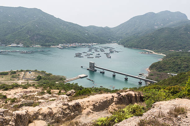 Lamma island coastline Lamma island is one the multiple outlying islands in Hong Kong territory. They retains some traditional life aspects and have some good hiking trail heading to the summit of the island. new territories stock pictures, royalty-free photos & images