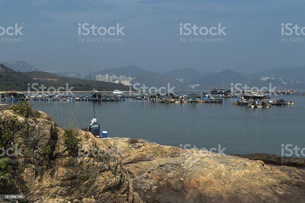 Ilha Lamma pesca - foto de acervo