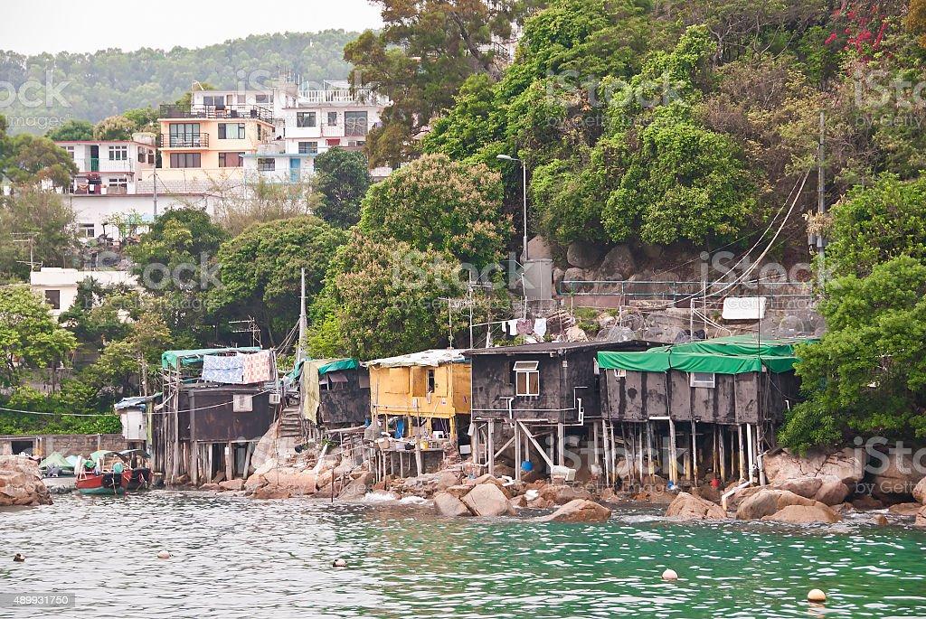 Lamma Island Fishing Village, Hong Kong stock photo
