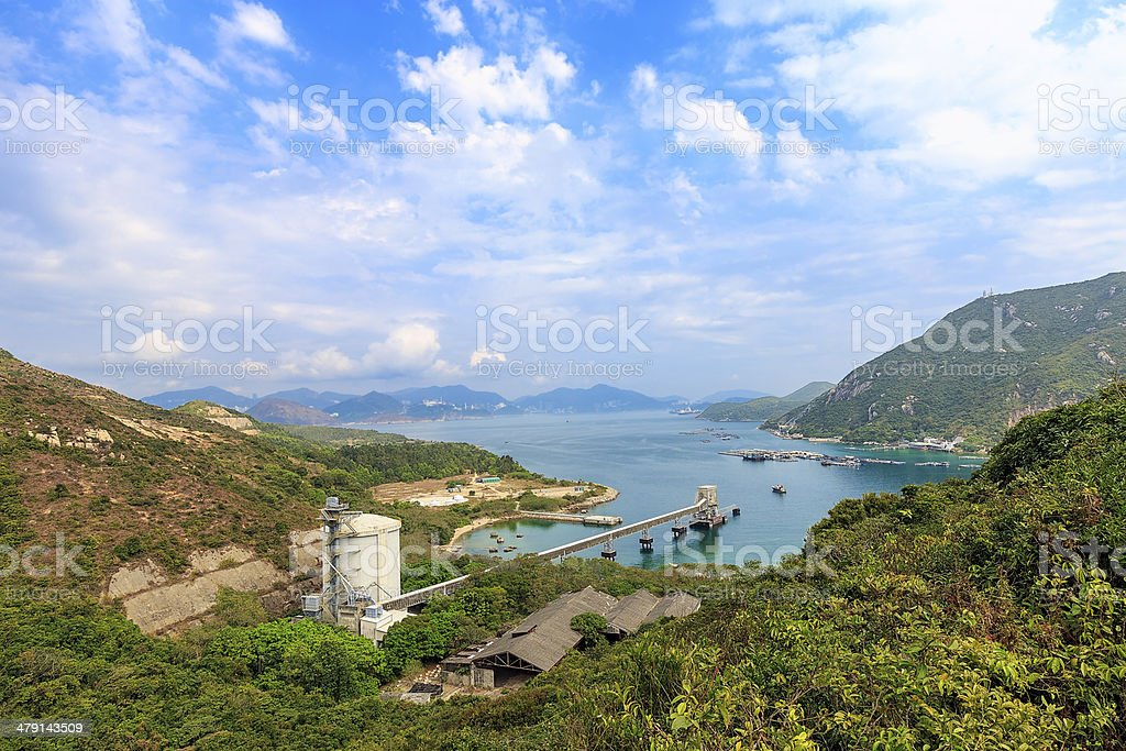 Lamma Island in Hong Kong stock photo