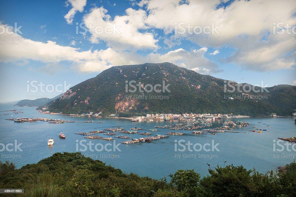 Lamma island in hongkong stock photo