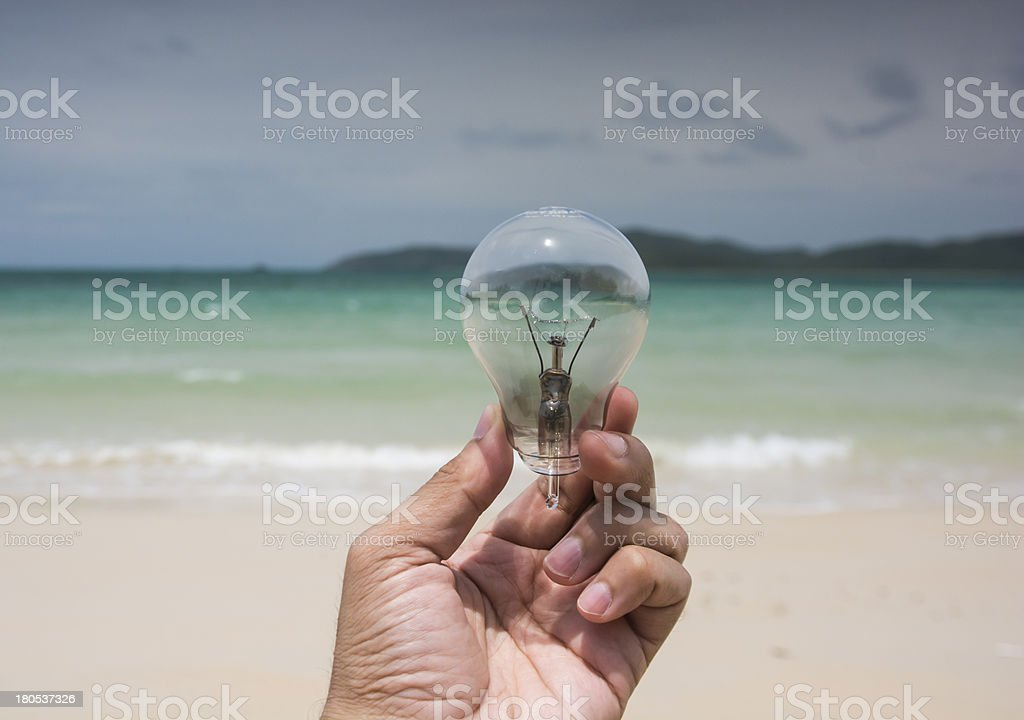 Lamp and Beach energy environment royalty-free stock photo