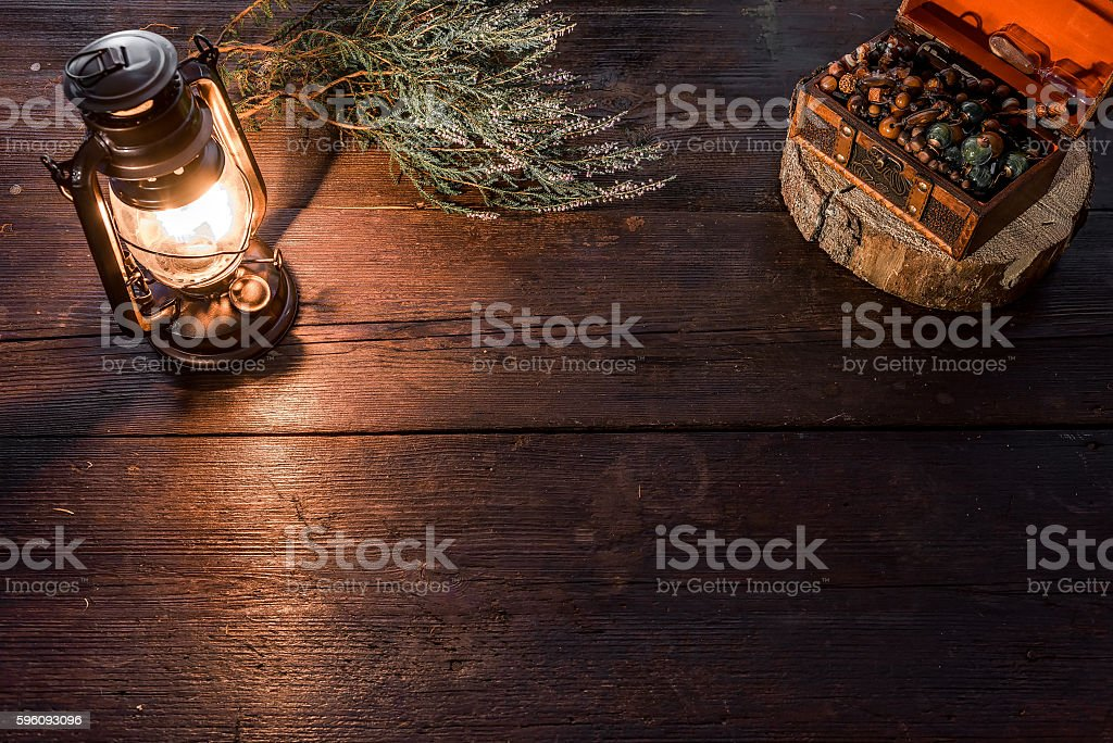 Lamp and chest royalty-free stock photo