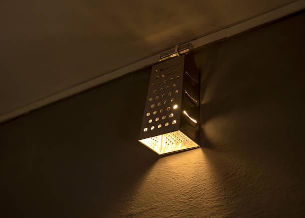 DIY lamp and decoration stock photo