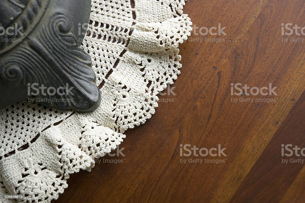 Lamp and Doily royalty-free stock photo