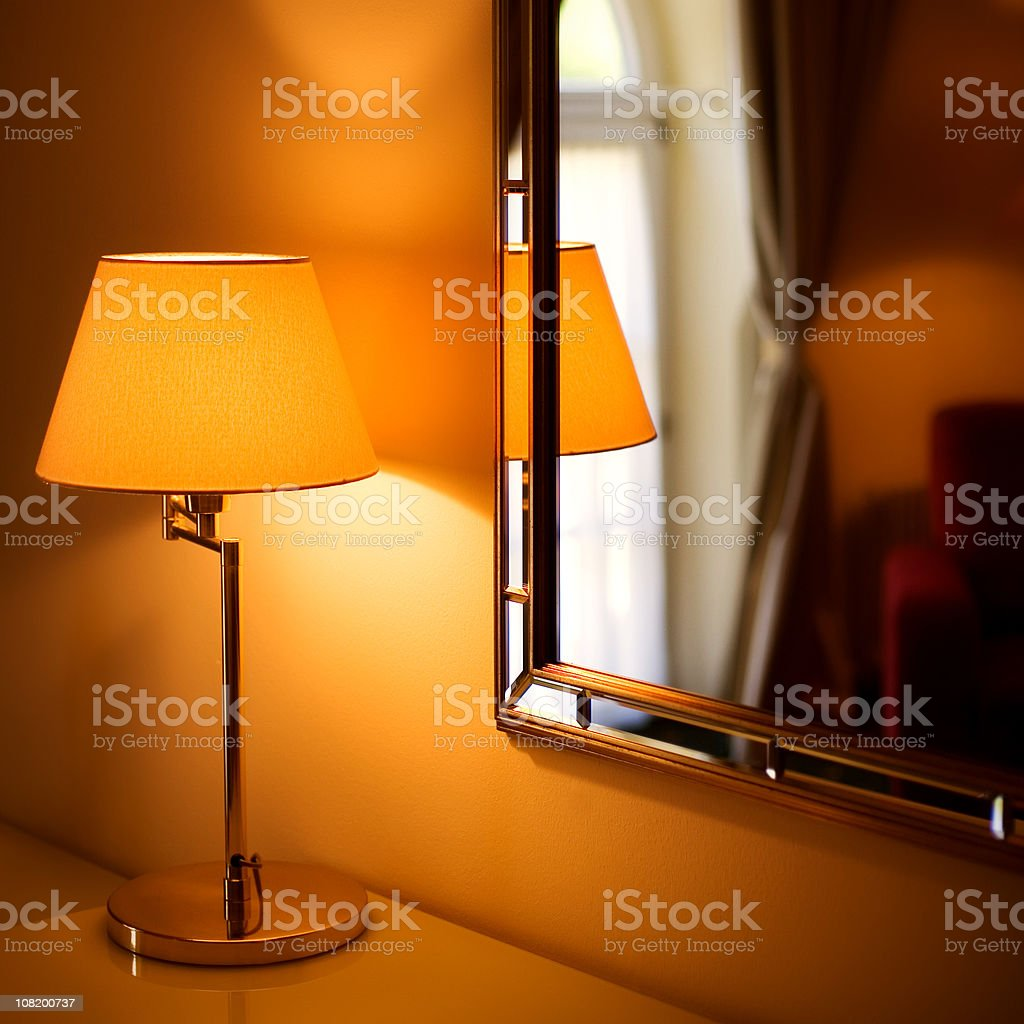 Lamp and Mirror royalty-free stock photo