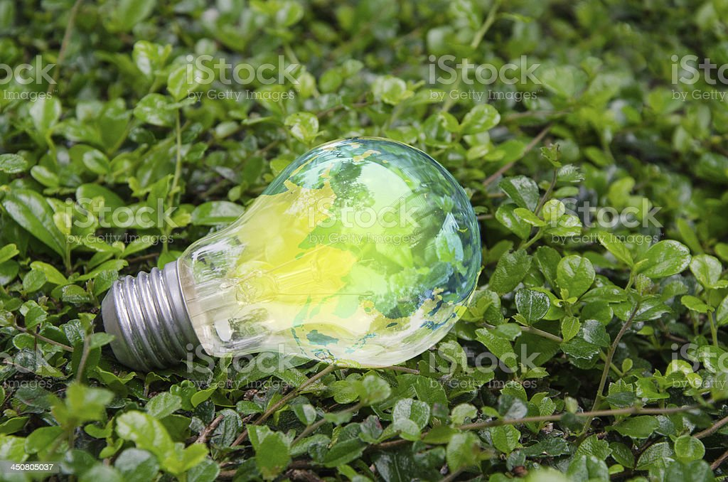 Lamp bright on green nature royalty-free stock photo