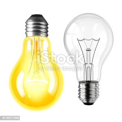 istock Lamp bulbs. 3D illustration 613322268