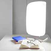 Lamp Daylight Therapy with books