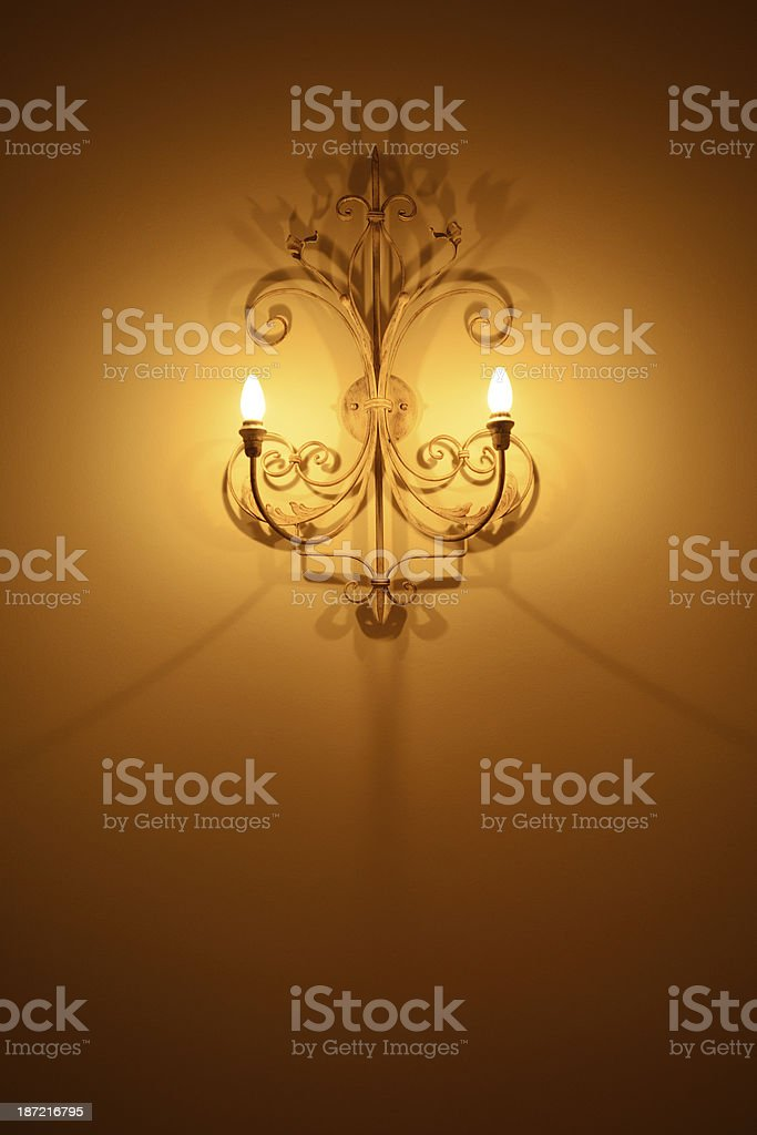Lamp decor on the wall royalty-free stock photo