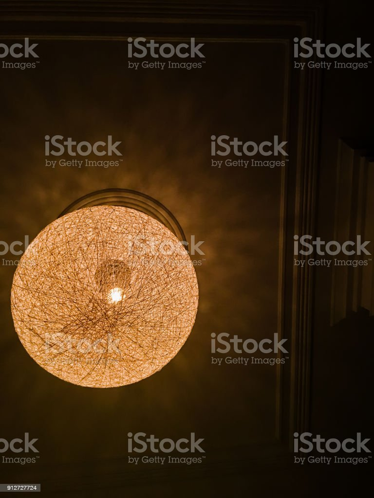 Lamp Hanging From Ceiling stock photo