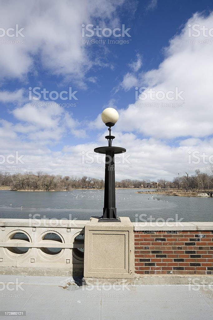 Lamp in Humboldt Park Chicago royalty-free stock photo